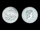 Moneda de argint Australia Pig 2 oz