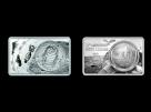 Set lingou cu moneda argint fin 50 th anniversary Moon Landing