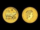 Moneda de aur 1/20 oz Australia Pig