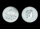 Moneda de argint Australia Pig 1/2 oz