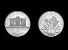 Moneda de platina Philharmoniker 1/25 oz