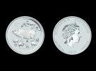 Moneda de argint Australia Pig 1 oz