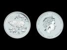 Moneda de argint Australia Pig 5 oz