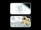 Set 4 monede dreptunghiulare Australia  Dog