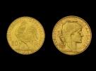 Moneda de aur Franta 20 Franci