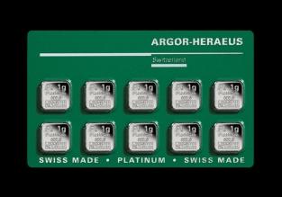 Multicard platina Argor Heraeus 10 x 1 gram