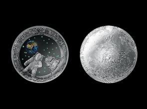 Moneda de argint Apollo 11 a 50 a aniversare- Austria