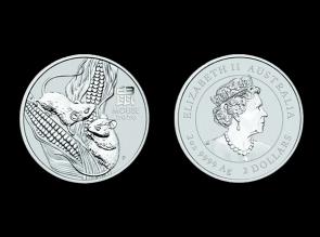 Moneda de argint Australia Rat 2 oz