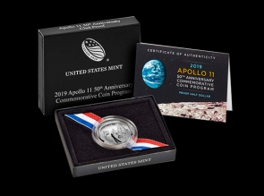 Moneda de argint Apollo 11 a 50 a aniversare - USA