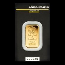 Lingou de aur 10 grame Argor Heraeus