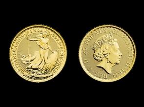 Moneda de aur Britannia 1/4oz