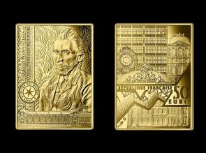 Moneda de aur Autoportret - Van Gogh - la comanda