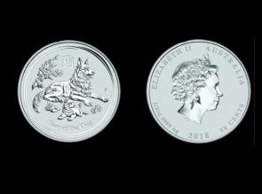 Moneda de argint Australia Dog 1/2 oz