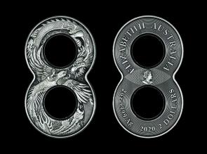 Moneda de argint Dragon & Phoenix