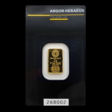 Lingou de aur 2 grame Argor Heraeus