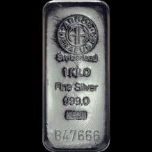 Lingou de argint 1000 grame Argor Heraeus