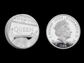 Moneda de argint aniversara QUEEN 1/2 oz