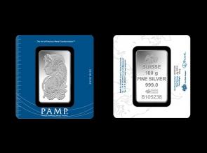 Lingou de argint 100g Pamp