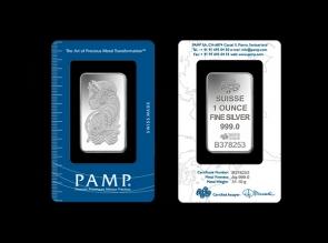 Lingou de argint 1oz Pamp
