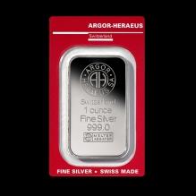 Lingou de argint 1Oz Argor Heraeus