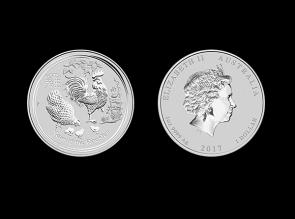 Moneda de argint Australia Rooster 1 Oz