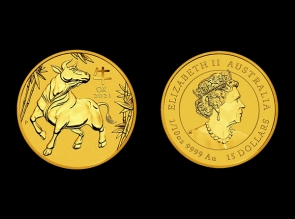 Moneda de aur 1/10 oz Australia Ox