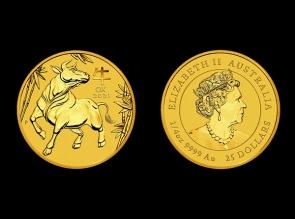 Moneda de aur 1/4 oz Australia Ox