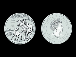 Moneda de argint Australia Ox 2 oz