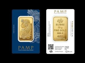Lingou de aur 50 grame PAMP - la comanda