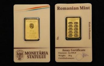 Lingou de aur 20 grame Monetaria Statului