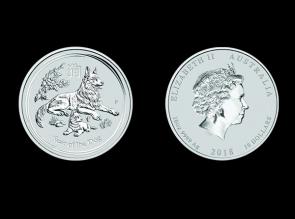 Moneda de argint Australia Dog 10 oz