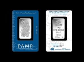 Lingou de argint 20g Pamp