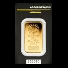 Lingou de aur 20 grame Argor Heraeus